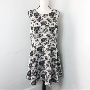Apt. 9 Floral Metallic Fit And Flare Dress 16